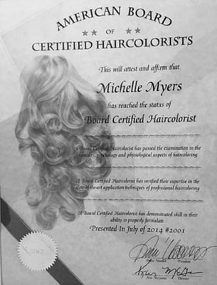 American Board Certified Haircolorist - Michelle Myers
